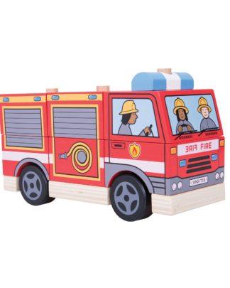 stapelauto brandweer