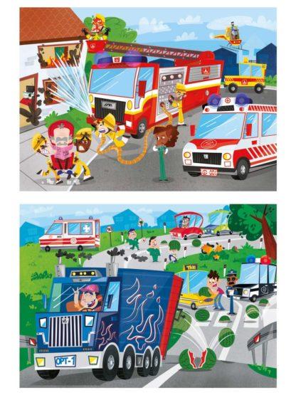 puzzel brandweer politie