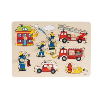 goki houten puzzel brandweer