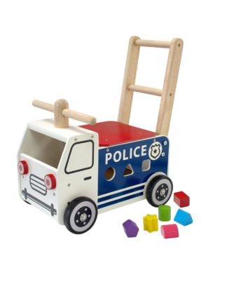 houten loopauto politie