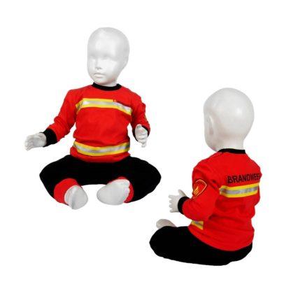 pyjama brandweer rood zwart