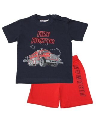 Fun2Wear Shortama brandweer navy