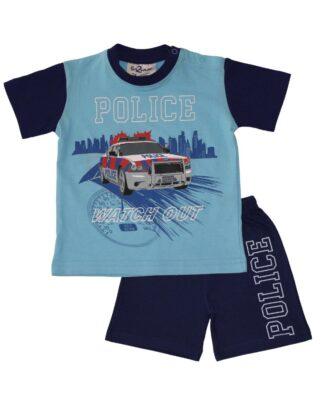 Fun2Wear Shortama politie blauw