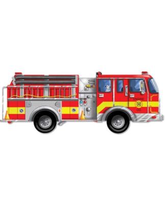 Melissa & Doug Vloerpuzzel brandweerauto